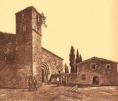 L'església romànica de Santa Maria de Sants, enderrocada l'any 1820, al costat de la Masia del Rellotge, per Jaume Pahissa