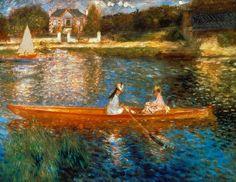 Pierre-Auguste Renoir - In barca sulla Senna, 1875