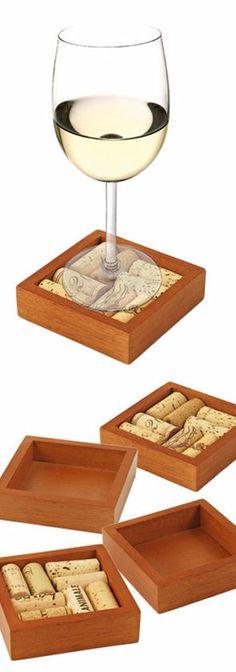 Wine Cork Coaster // DIY Idea!