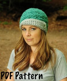 Womens Flapper Hat Pattern, Crochet Pattern, Crochet Cloche Pattern, Womens Crochet Hat Pattern. $5.00, via Etsy. What about this one? @jan issues Fehlis Tandy-Coates