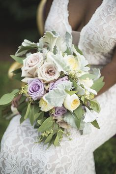 Elegant Lavender Plantation Elopement | Eucalyptus, blush rose, lavender rose…