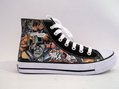 Shop for shoes on Etsy, the place to express your creativity through the buying and selling of handmade and vintage goods. Nike Shox, Converse Chuck Taylor, High Top Sneakers, Fun Stuff, Stuff To Buy, Comic Books, Etsy, Shopping, Shoes