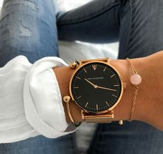Layer this watch with simple bands and a cuffed long sleeve flowy top