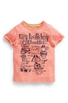 Buy Holiday Checklist T-Shirt (3mths-6yrs) from the Next UK online shop