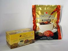 Lingzhi Black Coffee With Ganoderma Mushroom Extract 2 in 1