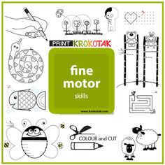 """Fine motor skills activities - printables Make sure you select """"LANDSCAPE"""" mode in your printer settings if needed."""