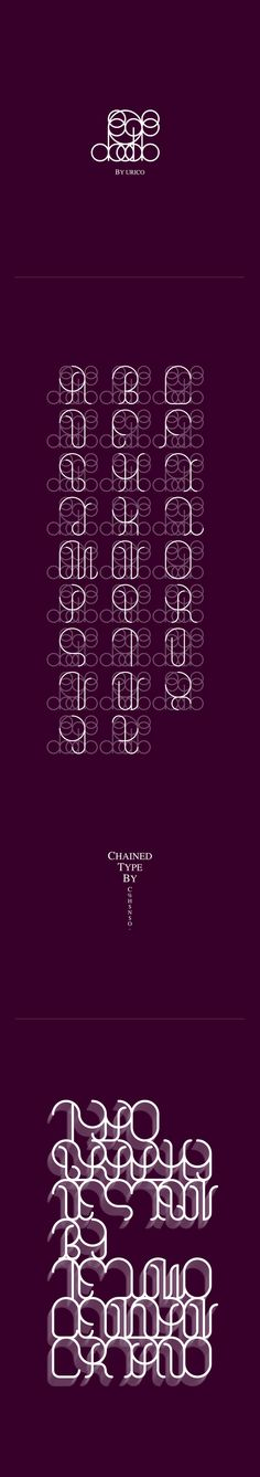 Chained font... way too abstract.  Like the look of the circle overlays on the letters.