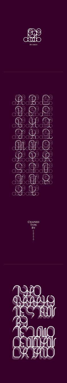 Chained Type by Telmo Cendán Criado, via Behance