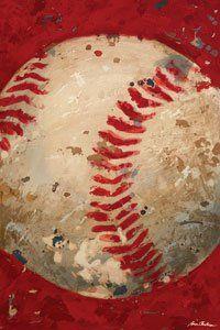 Vintage Baseball Wall Canvas Art - Wall Sticker Outlet