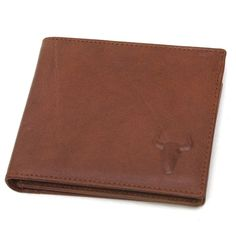 New Men's Genuine Leather Wallet 10 Regular Credit Card Slots Purse-Bull Mark #BlueMount #Bifold #leatherwallet
