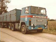 Scania LBS 141 6X2 met oplegger voor bietentransport van Althuisius in Tzummarum