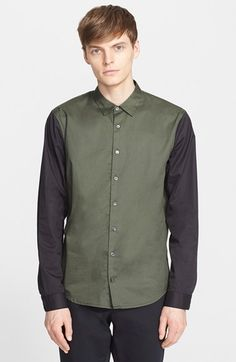 ATM Anthony Thomas Melillo Trim Fit Colorblock Shirt available at #Nordstrom