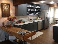 Stainless Steel Kitchen Island - kitchen - Brunelleschi Construction