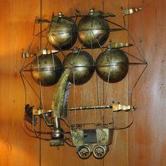 Brass Steampunk Airship - Steampunk Home Decor via Etsy