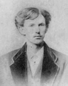 "John Henry ""Doc"" Holliday (August 14, 1851 – November 8, 1887), friend of Wyatt Earp."