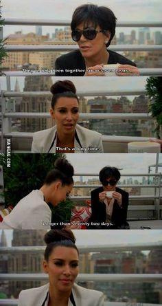 Poor Kim... Just kidding