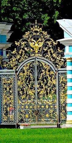 Main Palace Gates ~ royal residence of Empress Catherine in Pushkin