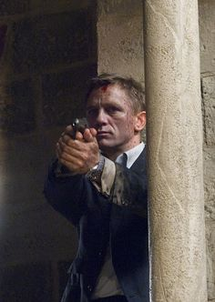 Daniel Craig is still handsome with tattered clothes and a bloody forehead   ~gabriel anthony garza