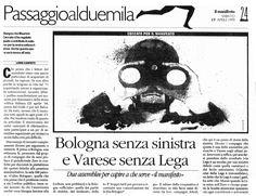 WatchOut. Illustratio. Ink e acrylic on paper. «il manifesto» 1998.