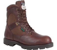 Georgia Boot Men's G108 8' Homeland Waterproof Work Boot Brown Full Grain Leather/Cordura Size 9.5 M