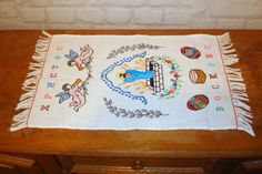 Easter Towel Vintage towel Ukrainian embroidery Hand Embroidered Easter Napkins Easter Decor Easter Rushnik by LuckyElenaShop on Etsy