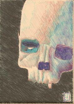 my simple #ballpoint #artwork #skull