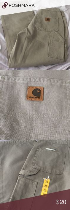 Carhartt carpenter pants Carhartt carpenter pants size 16 slim / dungaree fit new pants never worn Carhartt Jeans Boot Cut