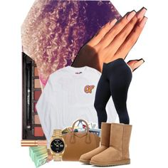 A fashion look from June 2016 featuring UGG Australia ankle booties, Roque handbags and Rolex watches. Browse and shop related looks. Chill Outfits, Swag Outfits, Casual Outfits, Cute Outfits, Dope Fashion, Teen Fashion, Fashion Outfits, Outfit Goals, Outfit Ideas