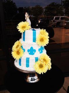 Fleur De Lis Wedding Cake Bake Your Day, LLC - Alexandria, LA www.facebook.com/bakeyourdayllc (318) 229-0299 bakeyourdayllc@hotmail.com
