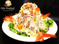 GỎI NẤM GÀ Mushroom & chicken salad