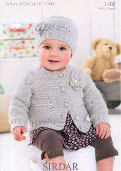 Cardie & Hat in Sirdar Snuggly DK - 1402