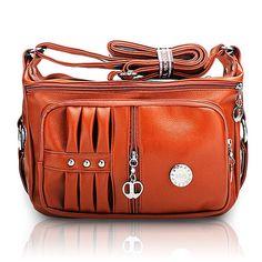 Women PU leather Handbag Pillow Leisure Shoulder Crossbody Bags