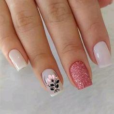 Pink Nail Art, Cute Acrylic Nails, Glitter Nail Art, Acrylic Nail Designs, Nail Art Designs, Nails Design, Design Art, Design Ideas, Nail Designs Spring