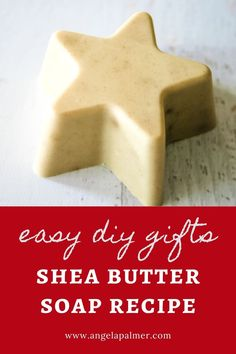 Looking for easy DIY gifts for the holidays? This beautiful shea butter soap recipe makes an impressive DIY gift for friends and family. This shea butter soap recipe features chamomile to create a soothing, moisturizing bar perfect for dry winter skin. Using the melt and pour soap method, you can create boutique-worthy bars even if you've never made soap before. Ready to whip up a batch for easy DIY gifts for Christmas? Pin to save then click over to get the easy shea butter soap recipe. Lotion Recipe, Sugar Scrub Recipe, Shea Body Butter, Shea Butter Soap, Making Soap Without Lye, Best Natural Soap, Handmade Soap Recipes, Diy Lip Balm, Facial Products