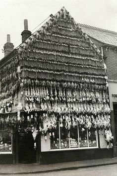 Butcher in High Wycombe c 1938