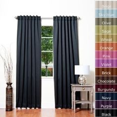 Solid Thermal Insulated Blackout Curtain 1 Set-BLACK by Best Home Fashion, Blackout Curtains, Drapes Curtains, Curtains Living, Curtain Panels, Orange Curtains, Decorative Curtain Rods, Insulated Curtains, Curtain Designs, Curtain Ideas