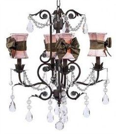Teen girls bedroom chandelier...love this one