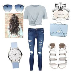"""""""Untitled #66"""" by mirnesa-mirha ❤ liked on Polyvore featuring J Brand, T By Alexander Wang, The Cambridge Satchel Company, Christian Dior and Gucci"""