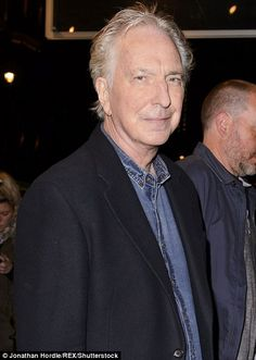 Dead at 69: Alan Rickman, pictured at one of the last times he was seen in public, at the playHangmen in London on December 7