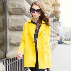 2015 spring new high-end handmade wool fleece coat female woolen jacket USD$295.00