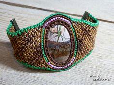 Bracelet en macramé Jasper | Bracelet brun | Bijoux faits main | Micro macramé | Cadeau pour elle | Pierres précieuses