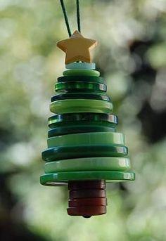 Tutoriales y DIYs: Adorno para el árbol con botones