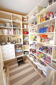 Large walk in pantry.