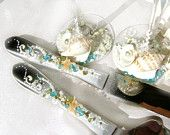 Beach Wedding Cake Server, handmade USA, Kathy's Holiday