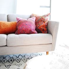 Lovely light filled shot of a few of our kilim pillows from @leftandlevel  If you missed our earlier posts we updated the shop with lots of beautiful new products today in preparation for delivery  I'm dilated to a 4 and 90% effaced so if I even make it through another day of posting it'll be a miracle  #TMI #justkeepinitreal