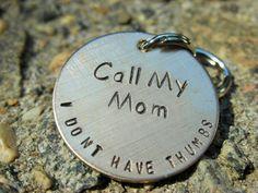 Custom Dog ID Tag-Call My Mom by TheLandlockedDogTwo on Etsy