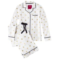 Gold polka dot pj's, yes please!