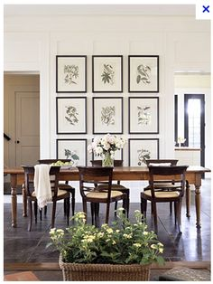 A Series Of Botanicals In The Dining Room Is Simple And Elegant Framed Botanical PrintsBotanical