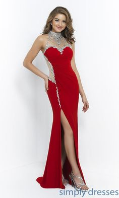 High Neck Blush Prom Dress - Brought to you by Avarsha.com