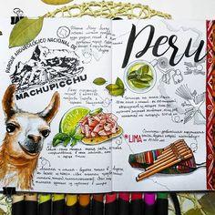 ✅Перу. Как мне не хотелось рисовать животных...но вроде получилось #sketchmarkersclub #скетчбук #скетчинг #leuchtturm1917 #markers #art_markers  #sketch #sketchbook #art #sketching #скетчмарафон_скетчмаркер #watercolor #орнамент #лама #перу